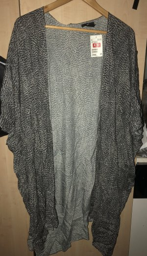 H&M Long Jacket black-white