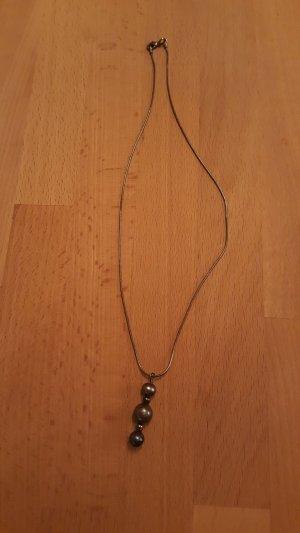 Collana grigio scuro Metallo