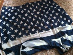 Damen-Halstuch dunkelblau mit weißen Sternen und Streifen