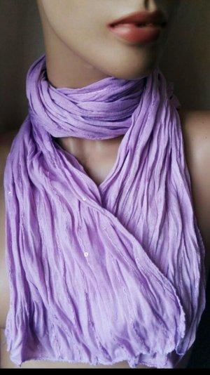 Damen Halstuch Tuch Schal Madonna lila wie neu