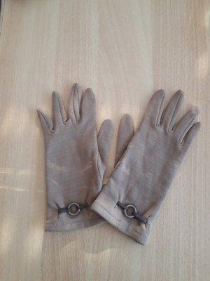 Guantes con dedos color bronce tejido mezclado