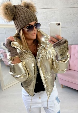 Damen Handschuhe Fell Fake Fur fingerlose Handschuhe , Neu