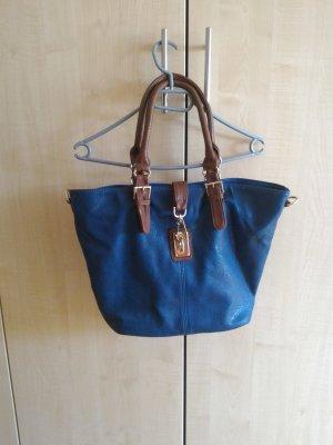Bolso azul-marrón