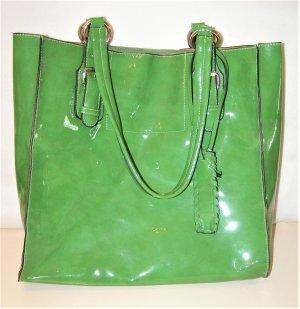 Shopper vert gazon-blanc