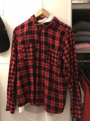 Chemise à manches longues rouge carmin