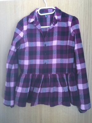 Colletto camicia rosa-rosso mora