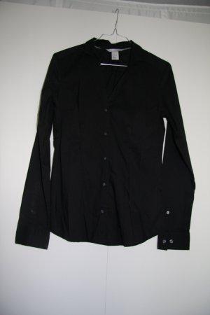 Damen Hemd Bluse Business schwarz tailliert