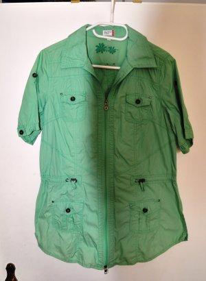 Blusa-camisa verde claro Algodón