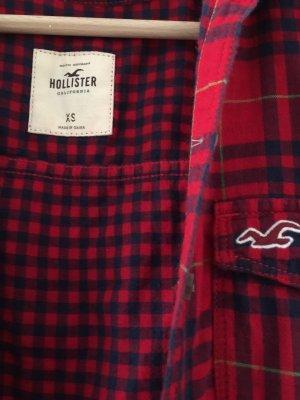 Hollister Camisa de manga larga rojo oscuro-azul oscuro
