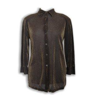 Barisal Shirt met lange mouwen zwart-goud