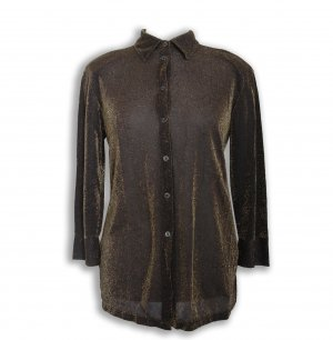 Damen Hemd, luxuriös, schwarz, Gold, Gr.M, Barisal