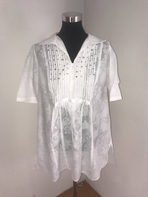 Ulla Popken Short Sleeve Shirt white-silver-colored