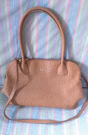 Carry Bag sand brown imitation leather