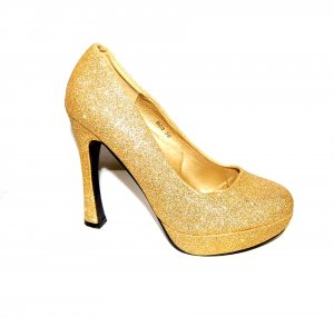 Damen High Heels - Plateau Pumps gold von Muse Gr. 39