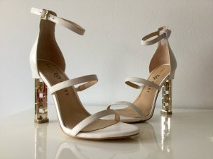 High Heel Sandal natural white leather
