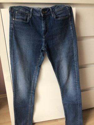 Damen High Waste Jeans Slim Leg Gr 28 / 30 L32 Pepe Jeans