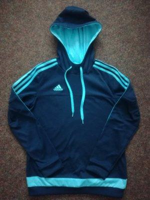 +++ Damen Hoodie Adidas dunkelblau/hellblau Gr. S neuwertig +++