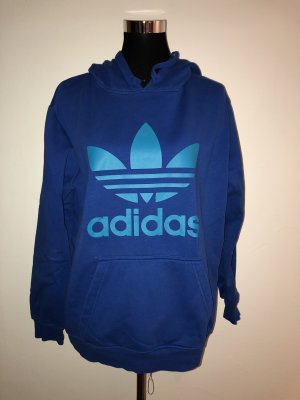 Adidas Hooded Sweatshirt blue-neon blue