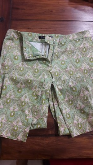 Hallhuber Drainpipe Trousers lime-green-pink cotton
