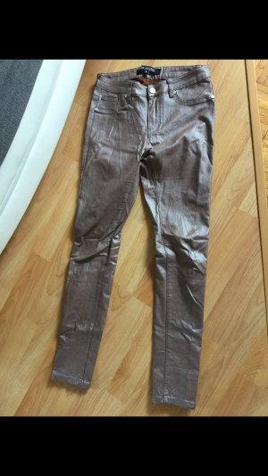 Drainpipe Trousers grey brown