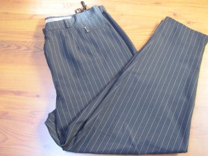 Avitano Pantalon taille haute noir-blanc tissu mixte