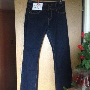 Jeans a zampa d'elefante blu scuro Cotone