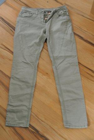 Stoffen broek grijs-bruin