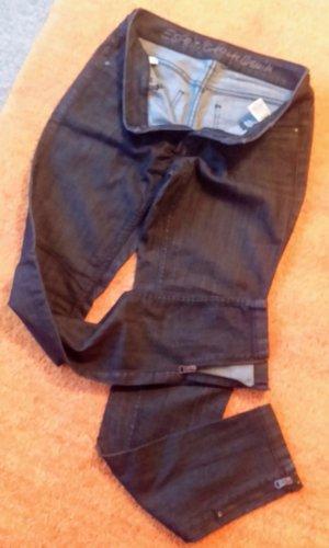 Esprit Stretch jeans donkergrijs-grijs Katoen