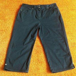 Damen Hose Sommer Capri Stretch Hose Gr.38 in Blau von Clarina
