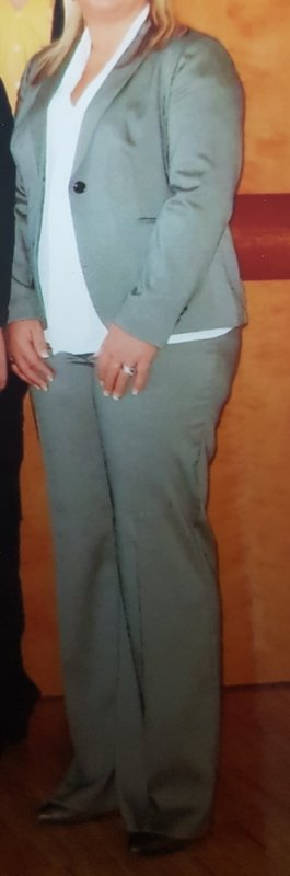 Pantalón de vestir color plata