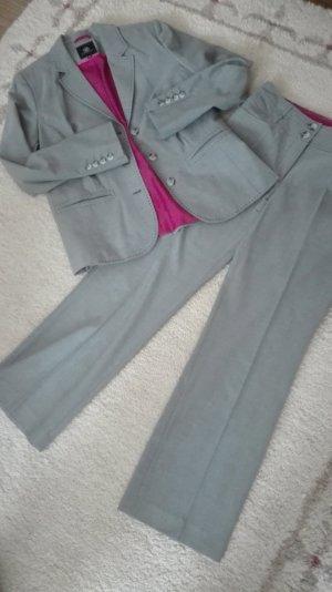 Traje de negocios gris-rosa tejido mezclado