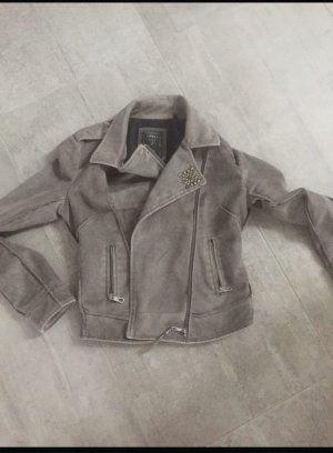 Guess Faux Leather Jacket dark grey imitation leather