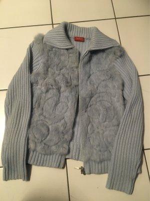 Fur Jacket light blue cotton