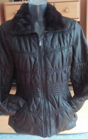 Damen Jacke Echt-Fellkragen abnehmbar Gr.XXL(S/M) in Braun von Escandelle NW