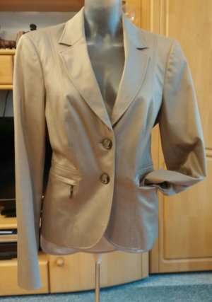 Damen Jacke Edel Eleganter Business Blazer Gr.40 in Gold/Beige von Comma NW
