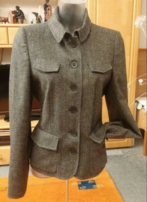 Damen Jacke Edel Eleganter Woll Blazer Gr.38 in Grau gemustert NW
