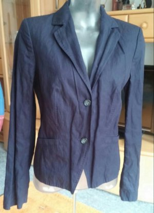 Damen Jacke Eleganter Crash Blazer Gr.38 in Blau von Hirsch NW
