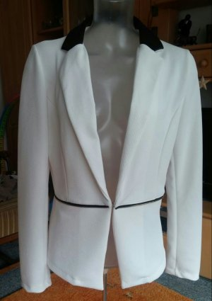 Short Blazer white-black polyester