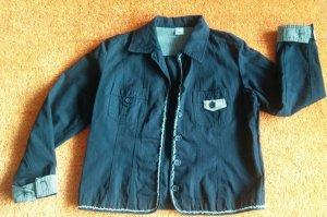 Damen Jacke Jeans Blazer Fransig Gr.40 in dunkel Blau von M&S