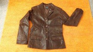 Damen Jacke Leder edel Übergangs Blazer Gr. 36 in Braun von Joy NW