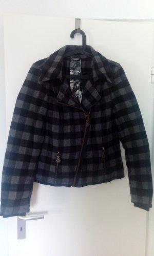 Damen Jacke Mantel Zara ONLY Gr. M grau kariert Neu