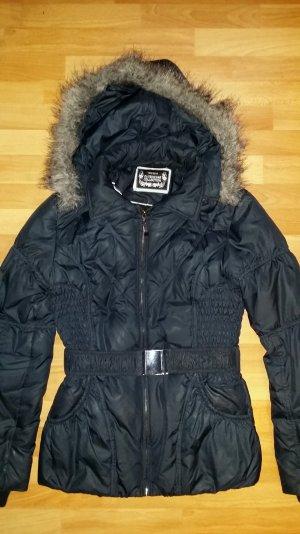 Damen Jacke mit Kapuze in dunkel blau Gr. S 36 von Yessica