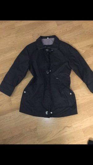 Damen Jacke schwarz lang
