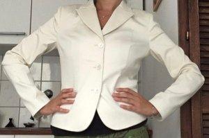 Sisley Giacca corta beige chiaro-bianco Cotone