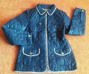 Fabiani Quilted Jacket steel blue-oatmeal
