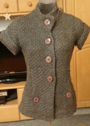 Damen Jacke Strick figurbetonte Woll Weste Gr.38 in Grau von Monari