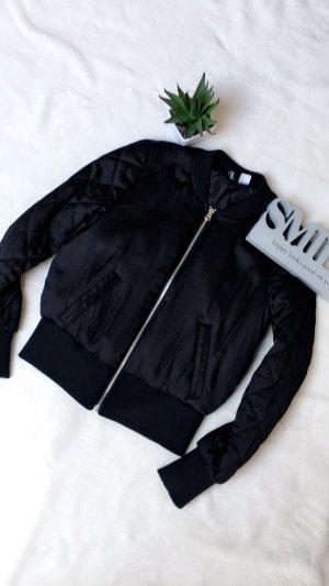 Damen Jacke Übergangsjacke Bomberjacke schwarz