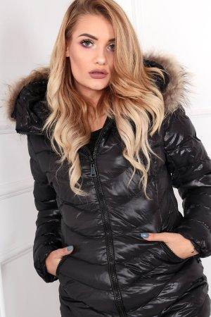 Veste matelassée noir-marron clair