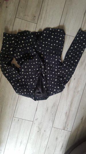 Zara Oversized jack wit-zwart