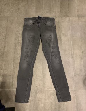 Please Low Rise Jeans dark grey